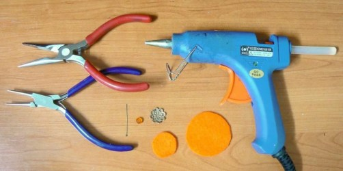 Tutorial small satin dahlia - tools