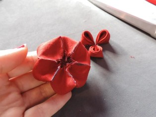 Peony flower tutorial - the base is finished