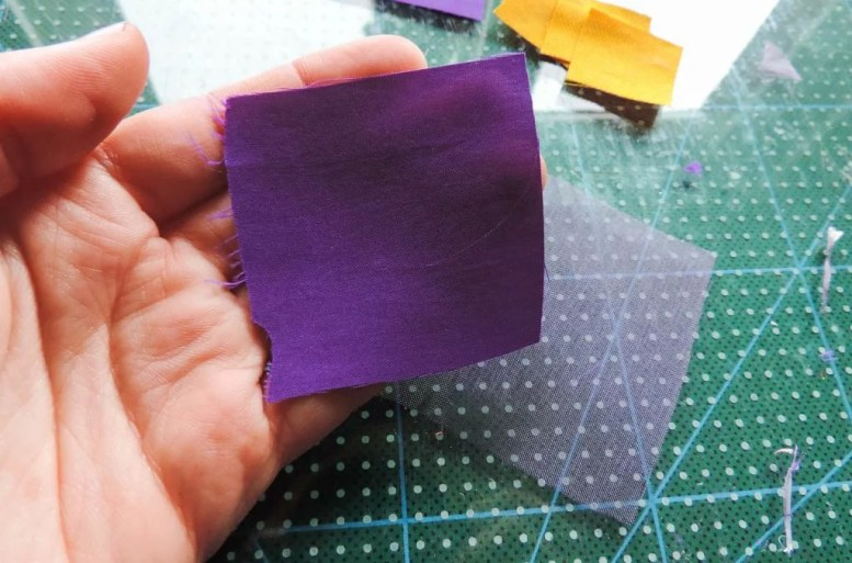 Tutorial floare de iris matase organza-14