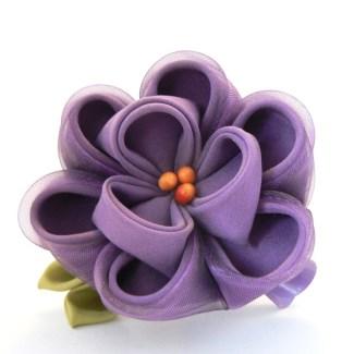 Purple silk and organza peony