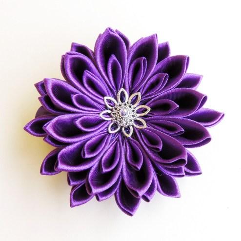 Purple satin chrysanthemum - DIY tutorial