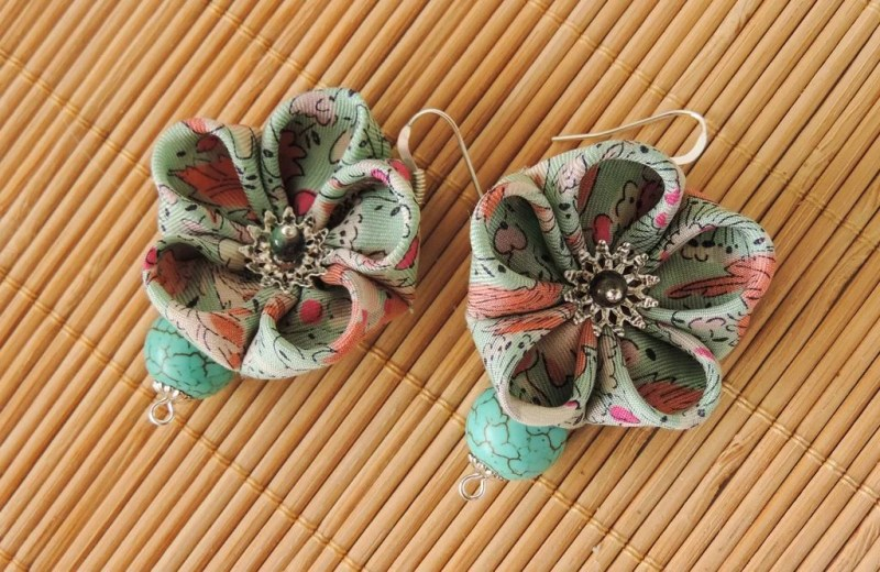 Flower earring tutorial - 12