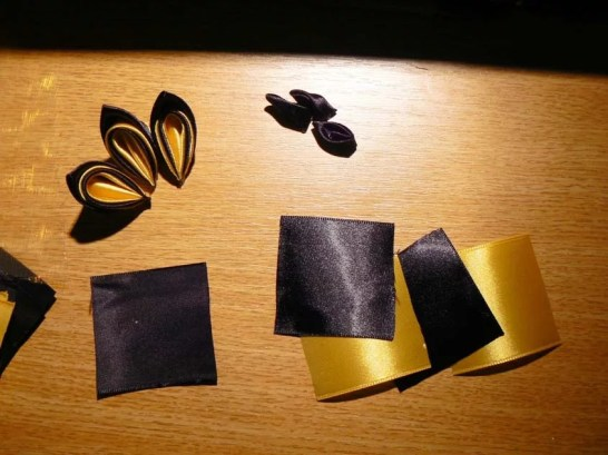 Tutorial satin and organza butterfly - materials