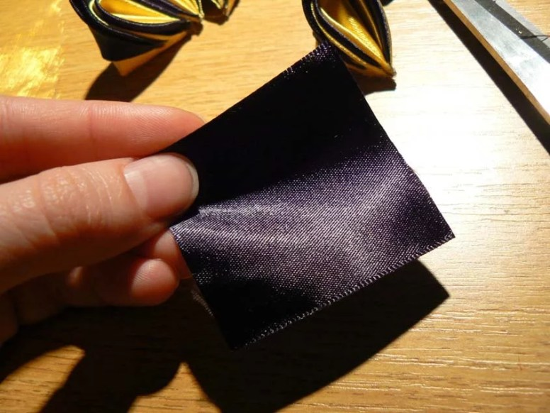 Tutorial satin and organza butterfly - torso