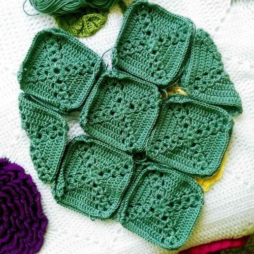 Green granny squares