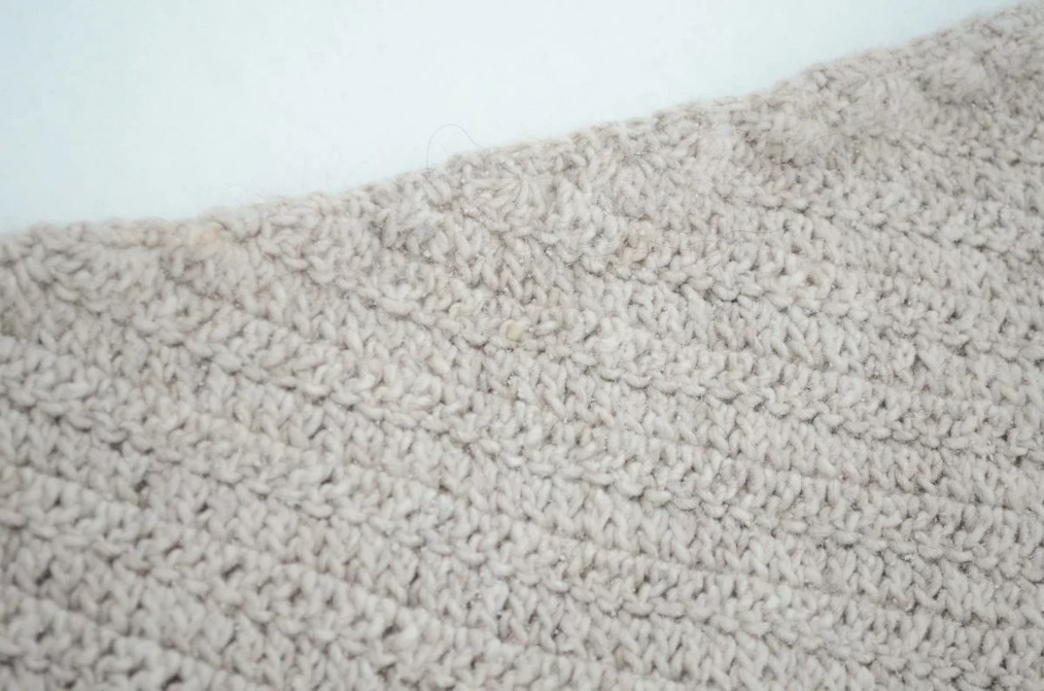 In flames Crochet Crescent Shawl 20