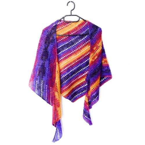 Kizilkaya crescent shawl - free crochet pattern Andrea Cretu