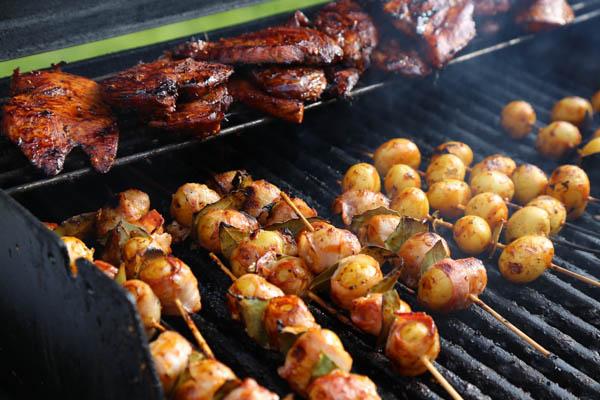Potatisspett med bacon och hickoryglaze