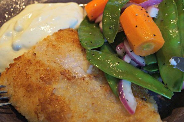Veckomatsedel ti: Panerad fisk med ljummen potatissallad