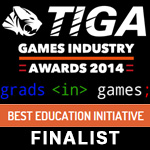 Grads In Games announced as a TIGA Games Industry Award Finalist