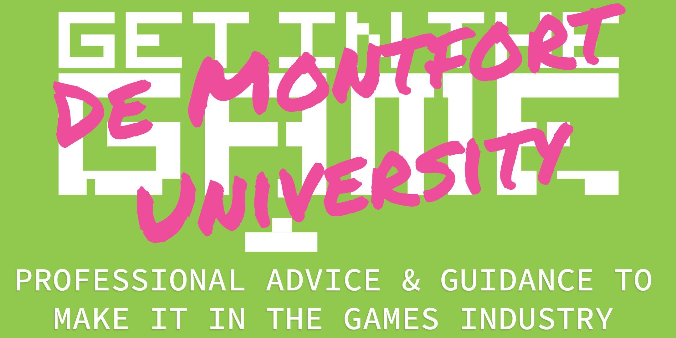 Get In The Game Careers Talks; De Montfort University