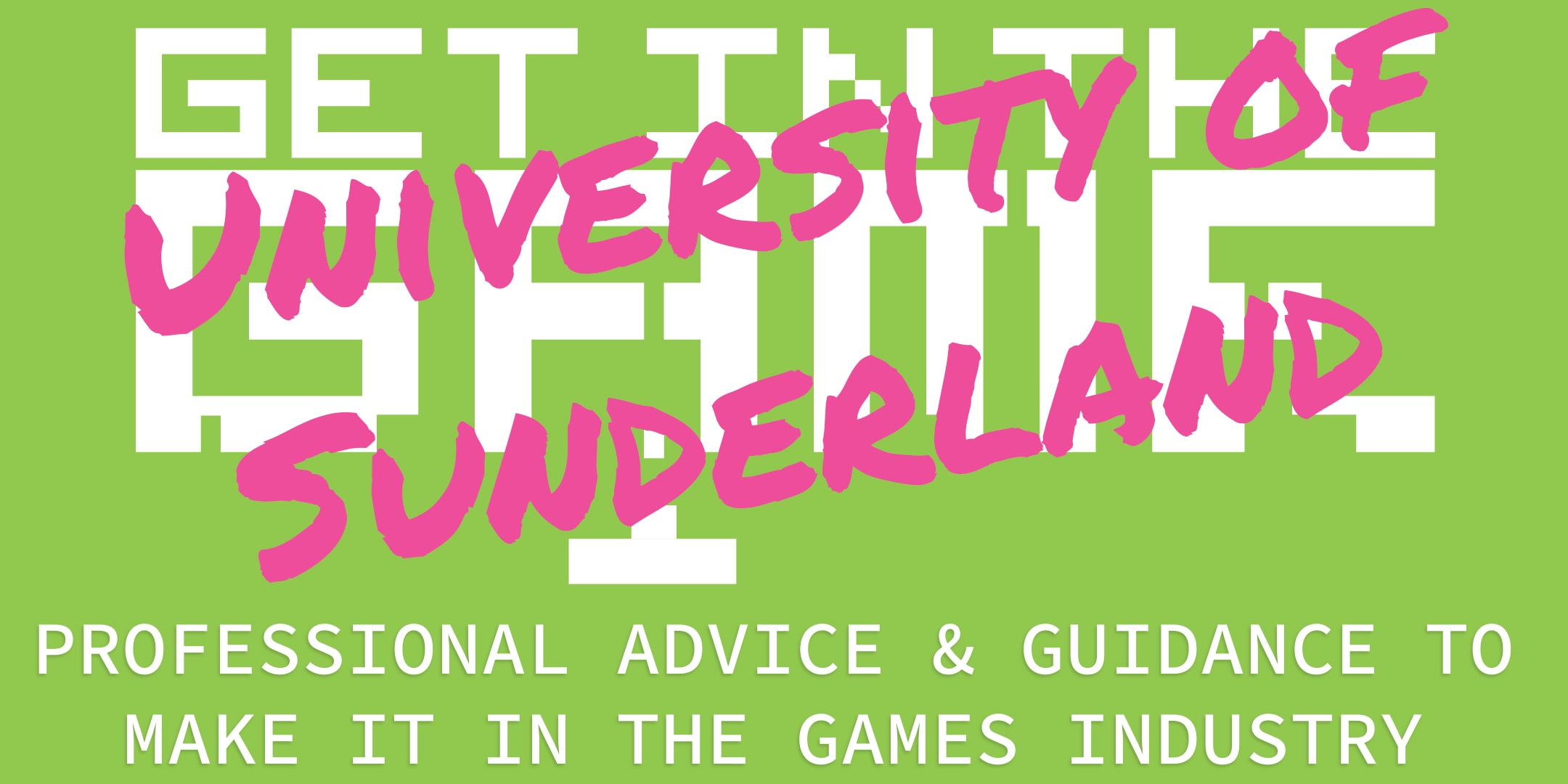 Get in the Game Careers Talks; University of Sunderland