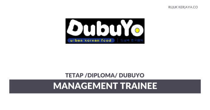 DubuYo ~ Management Trainee