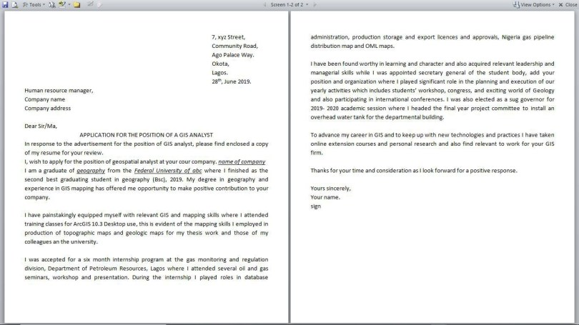 Write A Cover Letter For Graduate Jobs