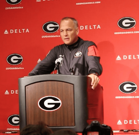 Head Coach Mark Richt at press conference after win Saturday vs. Southern.