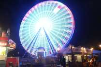 A Ferris wheel spins into the evening at the Georgia National Fair on Saturday, October 7, 2017, in Perry, Georgia. (Photo/Dori Butler)