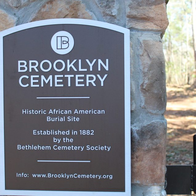 Brooklyn Cemetery is a historically Black cemetery that was originally established in 1882 but fell into disrepair in the 1980s. In 2006, Friends of Brooklyn Cemetery was established in an effort to reclaim the cemetery and maintain it. (Photo/Caroline Kurzawa)