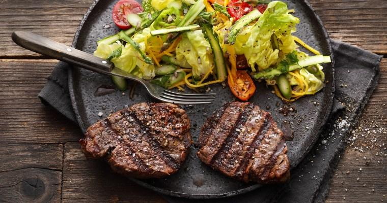 Fleisch isst man mit Gemüse