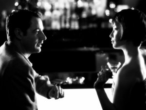 Jeremy Northam and Lucy Liu in the spy thriller movie Cypher