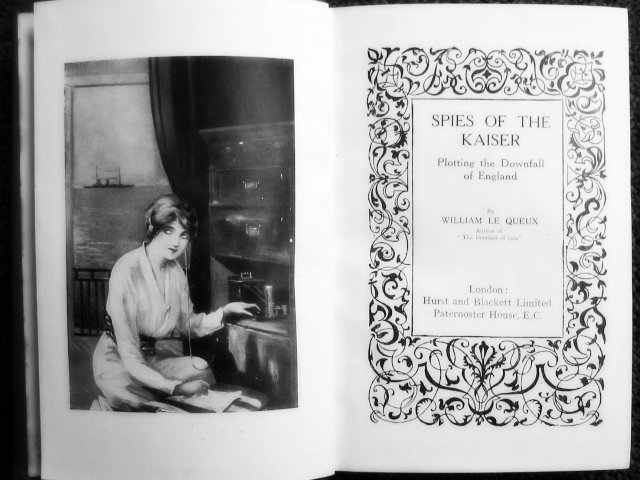 The frontispiece of Spies of the Kaiser by William Le Queux