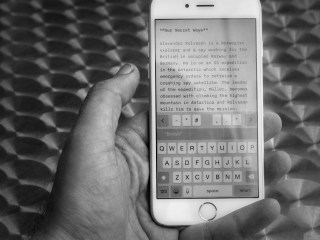 Using iPhone for Writing Using On Screen Keyboard