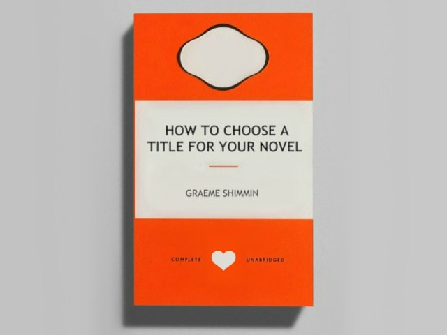 How to Choose a Title for Your Novel