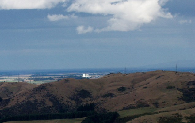 From the top of the hill a good view of the Fonterra milk plant near Darfield