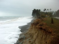 The road at Conway Beach could do with a little distance from the not so Pacific Ocean