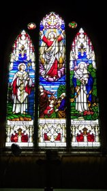 Altar window, memorial to the fallen of the two World Wars, St Aidans, Mt Somers