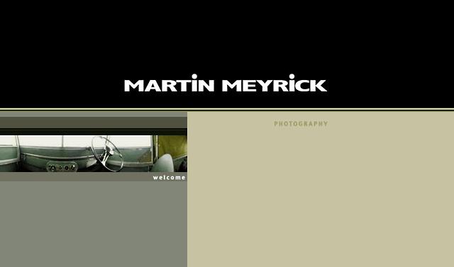 Website design for Martin Meyrick - 2001