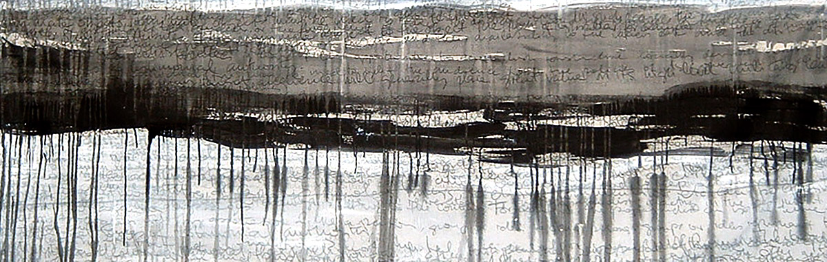 Acrylic and charcoal on blackout material, 1m x 2m approx, 2003