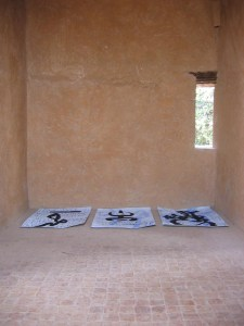 Essence Existence collaborations drying in the kasbah - Chaouen arts festival in 2004