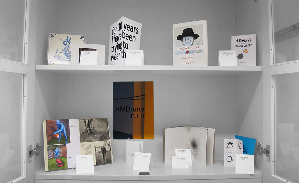 Shelves with one fold books