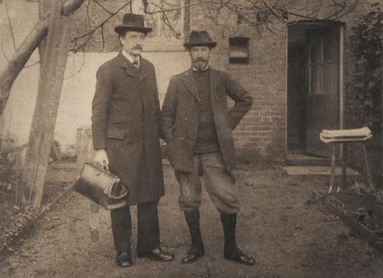 José Ramón Penela – Emery Walker a la izquierda y Cobden Sanderson fundadores de la Doves Press