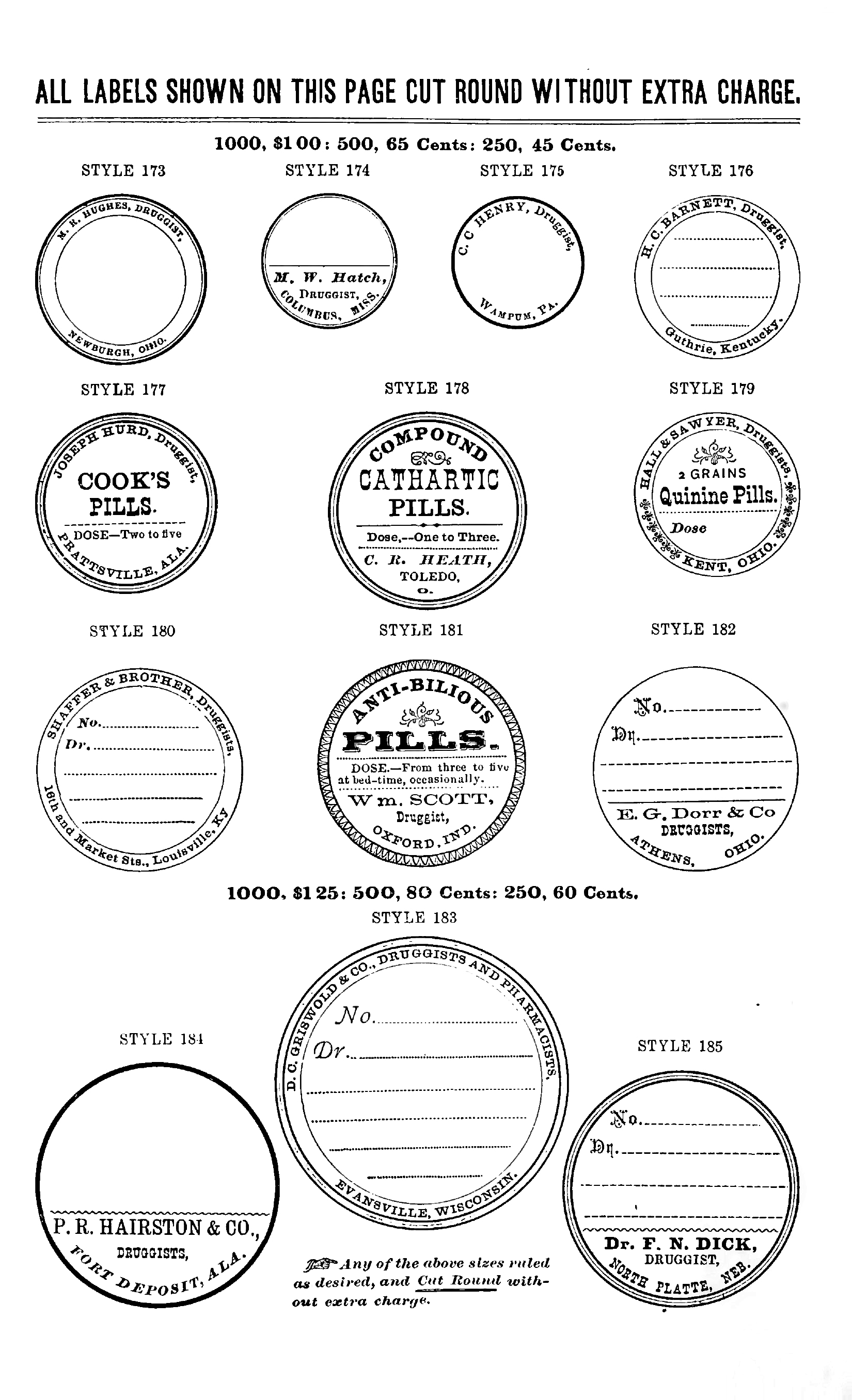 Black And White Apothecary Labels