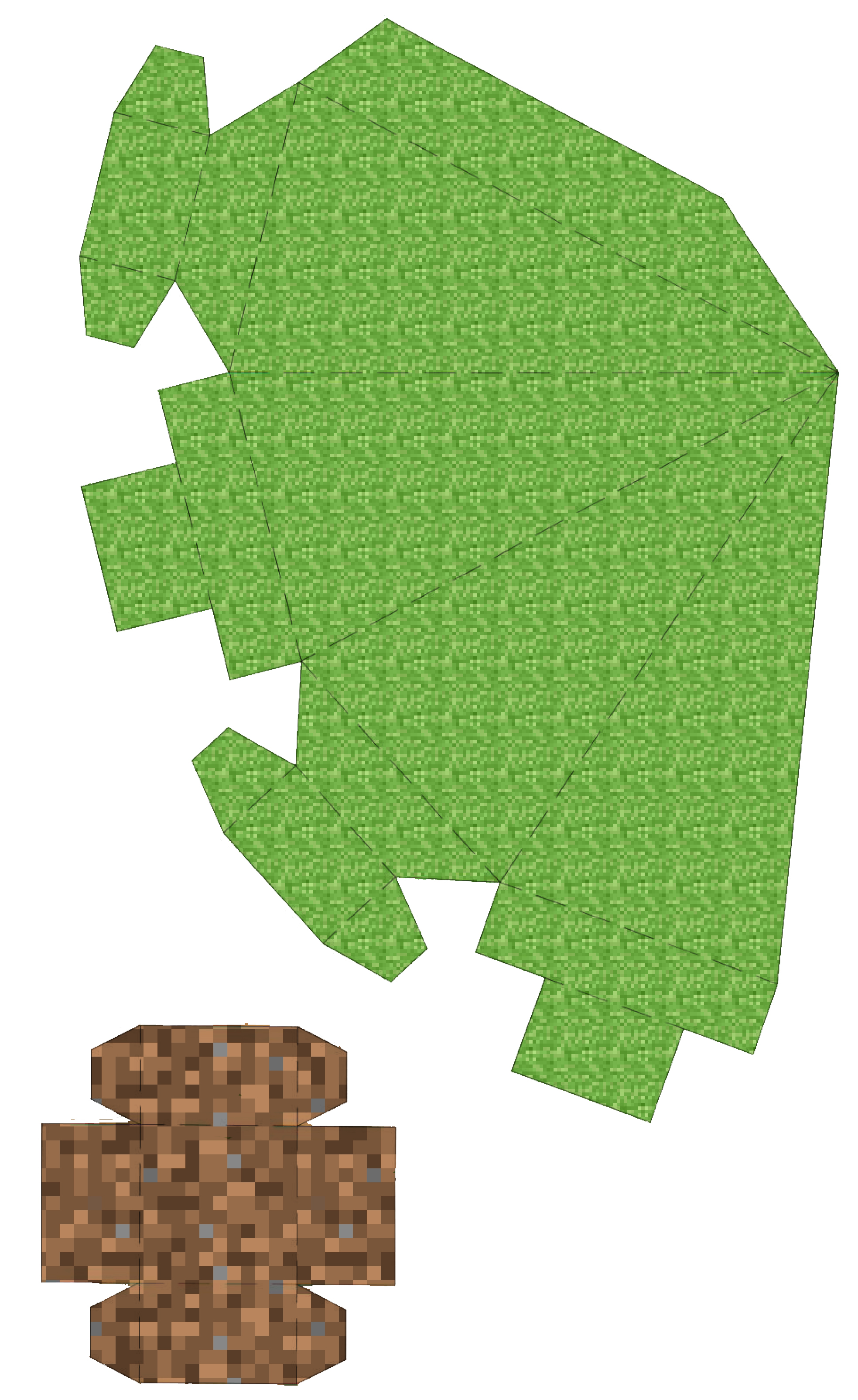 Minecraft 3d Paper Christmas Tree And Printable