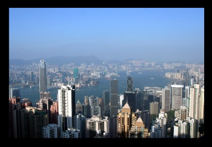 Hong Kong panorama taken from Victoria Peak
