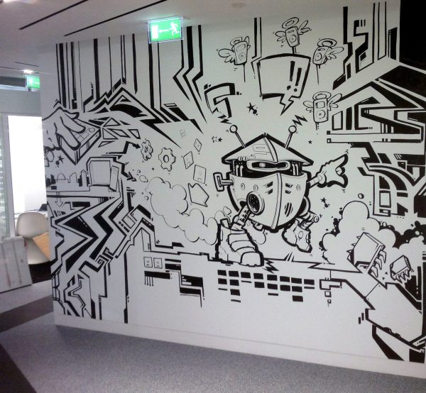 Google Graffiti Mural 4