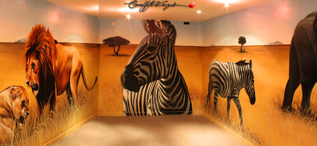 African Animals Graffiti