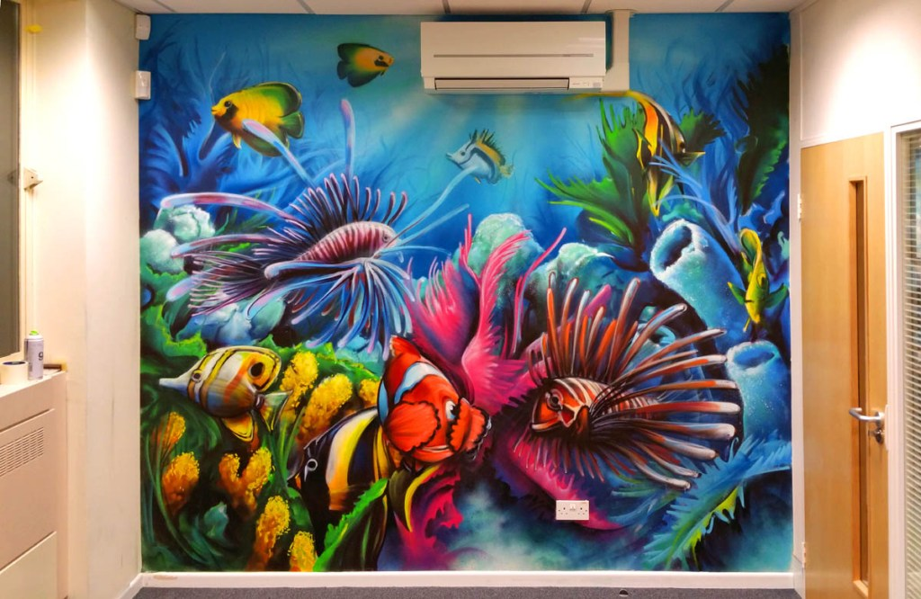 Coral Marine Under Water Graffiti Painting