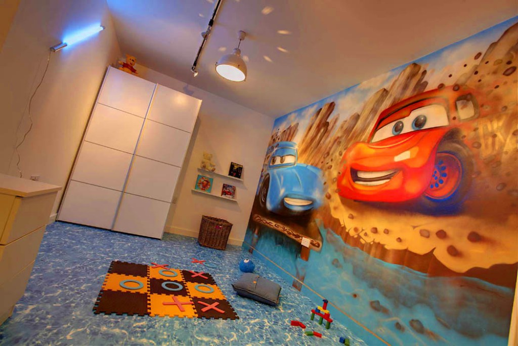 Disney Car Graffiti Bedroom Mural