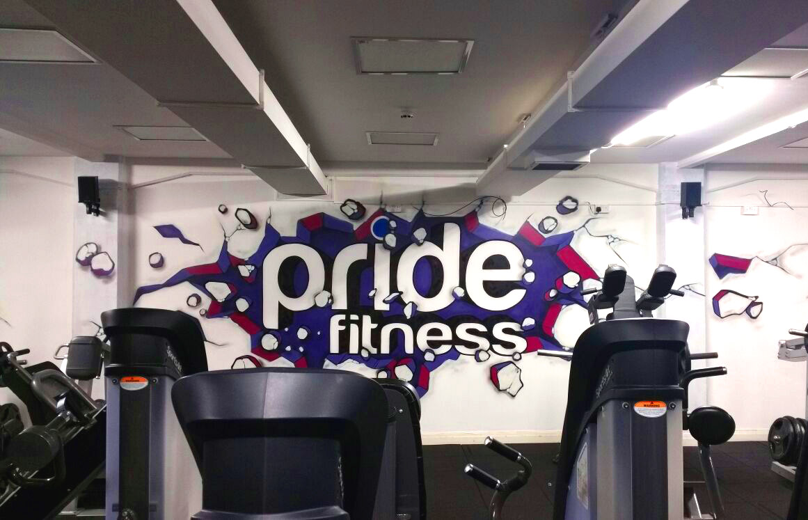 Pride Fitness GYM Graffiti