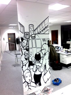 Office Graffiti Mural Artwork