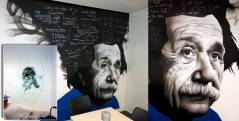 Einstein Office Graffiti Mural Artwork