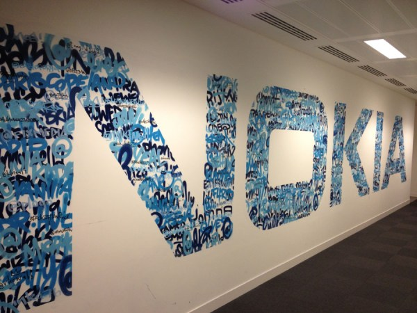 Graffiti murals painted at the London Nokia offices