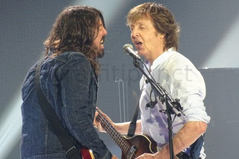 Paul McCartney and Dave Grohl at The O2 Arena in London