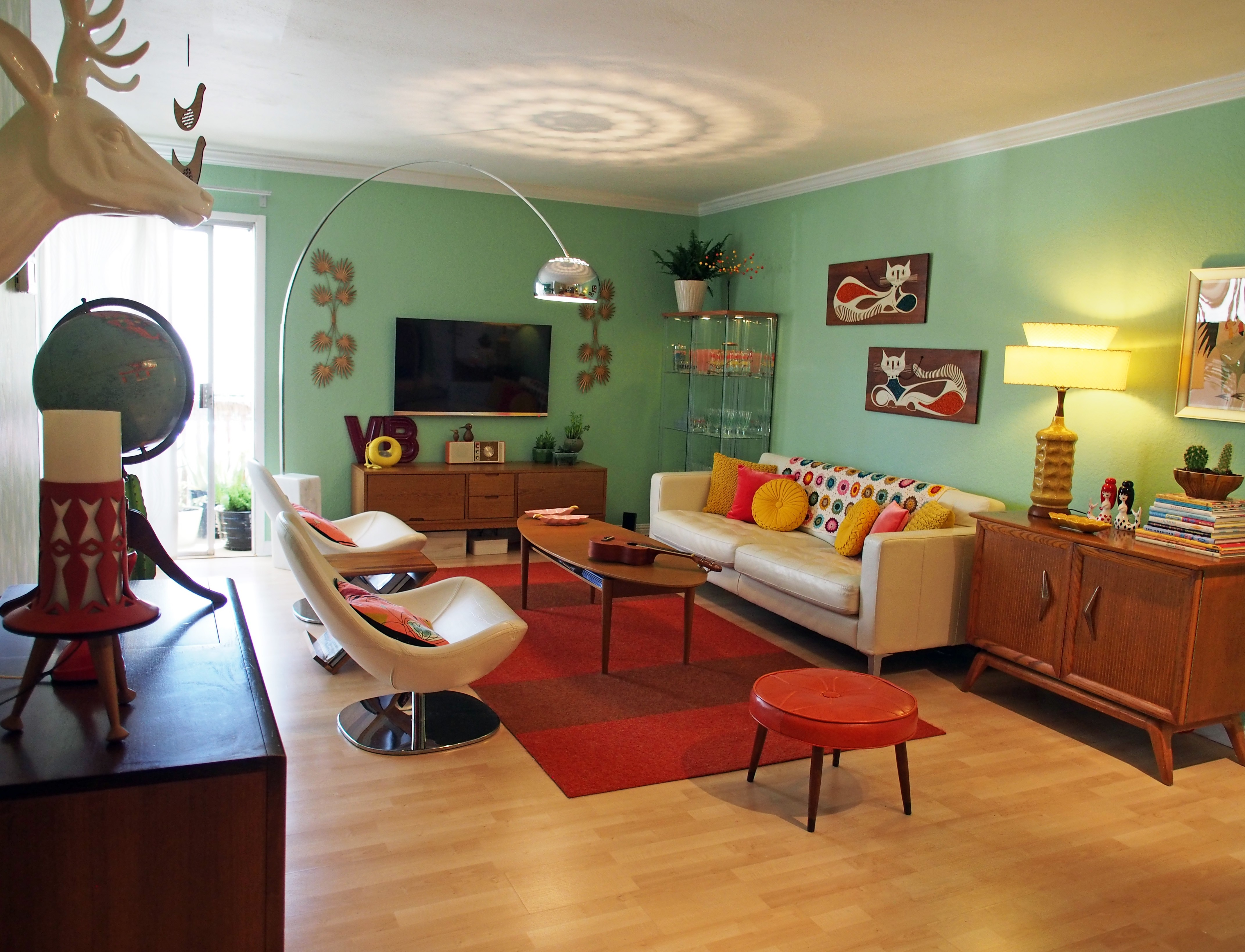 Retro Living Room And Plus Retro Style Living Room Ideas And
