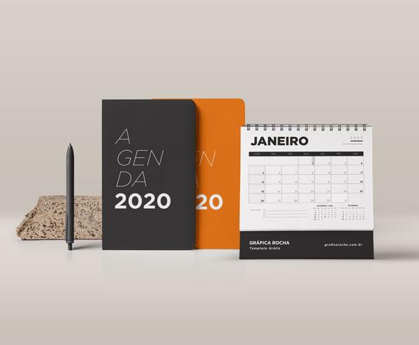 Template Grátis de Agenda e Calendário 2020