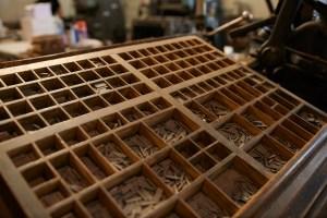 Impressão tipografia tradicional