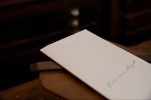 Convite de casamento, relevo, Tipografia Sintrense